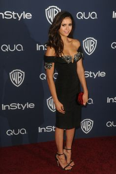 Nina Dobrev at the InStyle and Warner Bros. Golden Globes after party. [Photo by Tyler Boye]