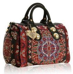 ShopStyle: Gucci red tapestry 'Babouska' medium boston bag