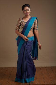 Neelakurinji Kaithari Saree