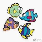 Make your own fish magnet - crafts activity