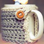 Mug cozy DIY from fabric, felt, crocheting and more
