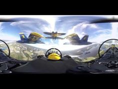 Experience the Blue Angels in 360-degree video - YouTube. Must see on smartphone for 360 degree VR.