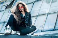 Long haired men you've never seen before // Michal Szpak more photos here. More Photos, My Music, Blond, Hot Guys, Photo Galleries, Winter Jackets, Handsome, Punk, Long Hair Styles