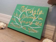 Namaste Lotus  Quote Canvas Painting by INSPIREDbysisters on Etsy