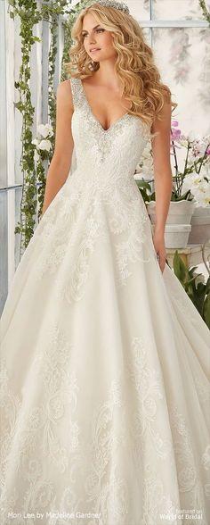 Mori Lee by Madeline Gardner Spring 2016 Wedding Dress
