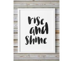 Rise And Shine Printable Typography Inspirational Motivational Brush Stroke Large Wall Art Calligraphy Poster Scripture Trendy Wall Decor by WhitePrintDesign on Etsy