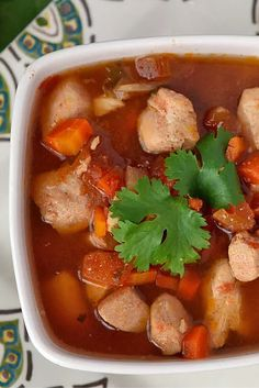 With plenty of protein, vegetables and spice, Slow Cooker Mexican Chicken Soup makes a tasty paleo dinner easy to come by on busy days.