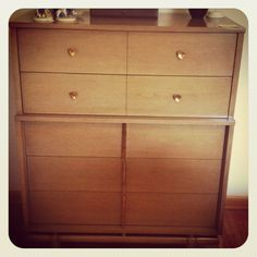 "Vintage Kent Coffey ""The Sequence"" highboy dresser that will be available at our upcoming Roseville Estate Sale!"