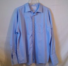 NWOT Roundtree & Yorke Gold Label Fitted Sz. 18/25 Blue Royal Oxford Men's Shirt #RoundtreeYorke