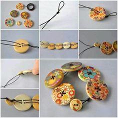 Bracelet boutons en bois... ...