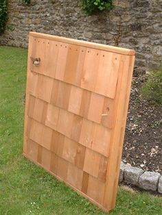 Shingle Fence Panel with bird perch www.jonathansteeleproducts.com