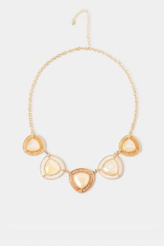 Dubai Jeweled Necklace in Ivory