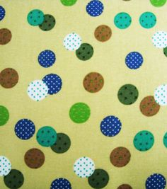 Dwight's pick... Nursery Fabric-Brown Dot Trapped Dots, , hi-res