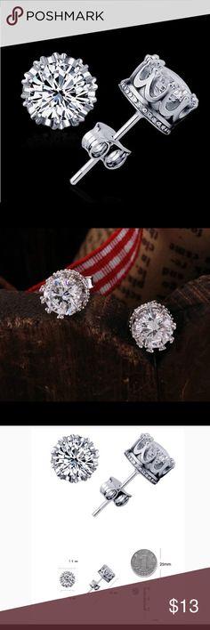 🌹5mm CRYSTALS STUD EARRINGS Dainty Stud crystal earrings Jewelry Earrings