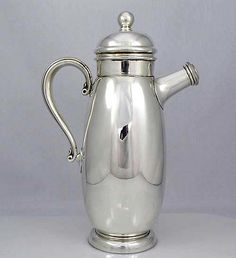 Sterling Cocktail Shaker Pinned by www.silver-and-grey.com