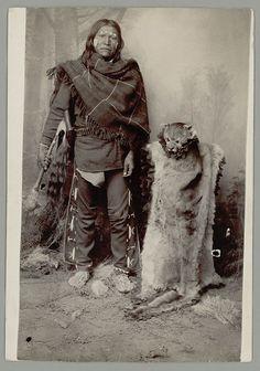 Portrait of Little Old Boy (Dwarf) in Feline Skin Costume