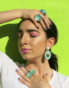 Turquoise photoshoot. Model Alma Kuschel. Photoshoot, Turquoise, Drop Earrings, Metal, Jewelry, Design, Fashion, Photo Shoot, Jewellery Making