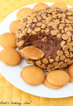 Chocolate Peanut Butter Cake Cheese Ball Recipe