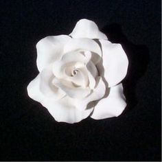 Single rose white 6cm