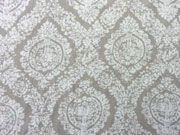 leichte Viskose Ornamente, beige/weiss