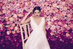 The Daalarna Flower Collection for Spring 2016 is a fabulously feminine bridal collection full of lace, tulle, pearls and pretty watercolour florals. Bridal Gowns, Wedding Gowns, Boho Gown, Wedding Inspiration, Design Inspiration, Wedding Ideas, Bridal Jumpsuit, Designer Wedding Dresses, Dream Dress