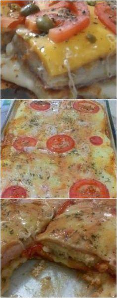 Minha tia fez essa lanche de forno e eu logo pedi a receita pra passar pra vocês, sabem por quê? Porque ficou simplesmente D-I-V-I-N-O!!! #lanchedeforno #lanchedefornorapido #lanchedefornosalgado