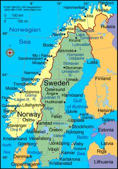 Map of Norway - http://toursmaps.com/map-of-norway.html