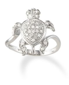 14k White Gold Diamond Turtle Ring only $598.00 - Top 50 Jewelry Gifts