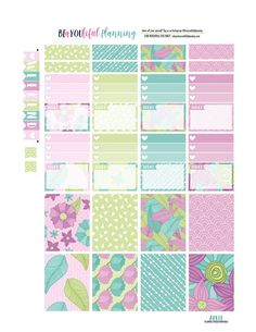 Free Printable April Weekly Planner Stickers from BEaYOUtiful Planning