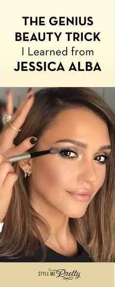The Genius Beauty Trick I Learned from Jessica Alba