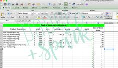 Inventory Cost And Pricing Spreadsheet By Paper + Spark