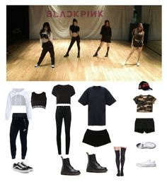 """""""Blackpink dance practice inspired outfit"""" by ambra04 ❤ liked on Polyvore featuring NIKE, Vans, Versus, Yves Saint Laurent, Topshop, Dr. Martens, Express, Nordstrom, rag & bone and Diesel"""