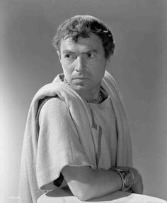 John Gielgud as Cassius and James Mason as Brutus in ...