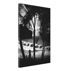 Palm Tree Silouette Wrapped Canvas...I love this shot!