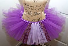 Rapunzel Inspired Princess Race Running Tutu in Purple and Lilac: Adult Women's