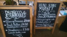 A-boards are done, the Prosecco is chilling and the strawberries are picked in prep for @brunelsqmarket this Sat