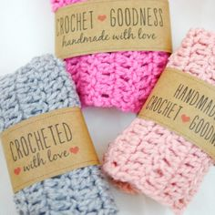 Share a little crochet goodness with these free printable crochet gift labels! They're perfect for any small project.