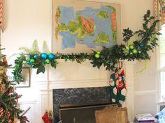 mantel garland by Three Chopt Garden Club © The Gracious Posse
