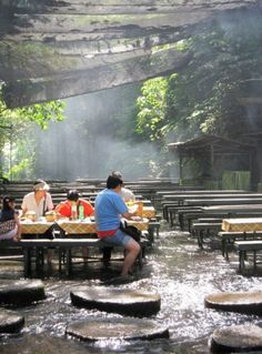 Waterfall Restaurant, located in Quezon province of the Philippines