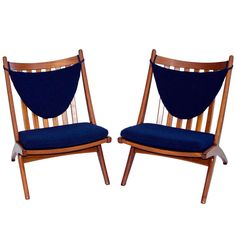 Danish Teak Lounge Chair- Armless | From a unique collection of antique and modern lounge chairs at http://www.1stdibs.com/furniture/seating/lounge-chairs/