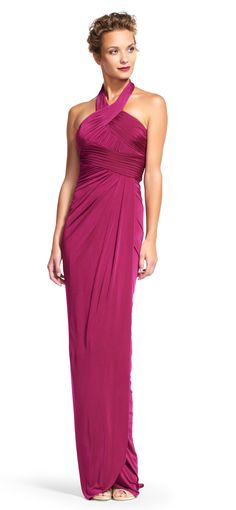 adrianna lace drape bridesmaid dresses papell drapes polyester yoke gown