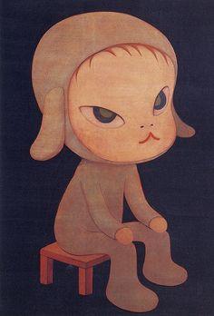 Sleepless Night (Sitting) by Yoshitomo Nara