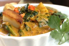 Saag Aloo or Kale, Spinach & Pan-Roasted Potato Curry (Vegetarian or Vegan)