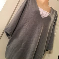 Grey Pullover Sweater Zenergy by Chicos. 100% cotton. Chicos size 1 (which is a size 8). Message if you have any questions or want more pics! Chico's Sweaters