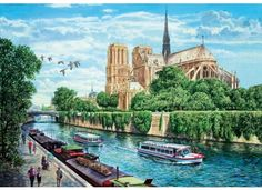 Notre-Dame Cathedral, a famous setting for Victor Hugo's historical novel Notre-Dame de Paris, is the perfect match for our wooden jigsaw puzzles. Lots of detail creates an ideal puzzling challenge for admirers of fine architecture or fans of belles-lettres alike.