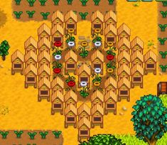 Image result for stardew valley bee hive layout