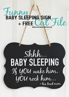 Baby Sleeping Sign +