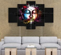Properties Material: Cotton Polyester Availability: Framed (Framed comes stretched and is ready to hang on wall) or Unframed (print only, not ready to hang on wall). Please select correctly. Traditional House, Buddha, Meditation, Zen, Halloween, Frame, Wall, Thoughts, Canvases
