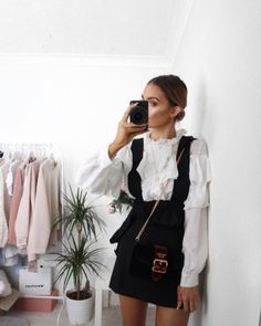 @lissyroddyy is #LFW ready in the Paper Doll Ruffle Blouse #GirlGang