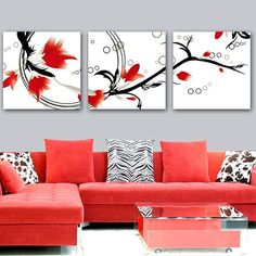 Canvas Prints and Canvas Art - Free Postage Acrylic Painting Canvas, Canvas Wall Art, Red Couch Living Room, Canvas Prints Online, Creative Walls, My Furniture, Canvas Crafts, Wall Decor, Interior Design